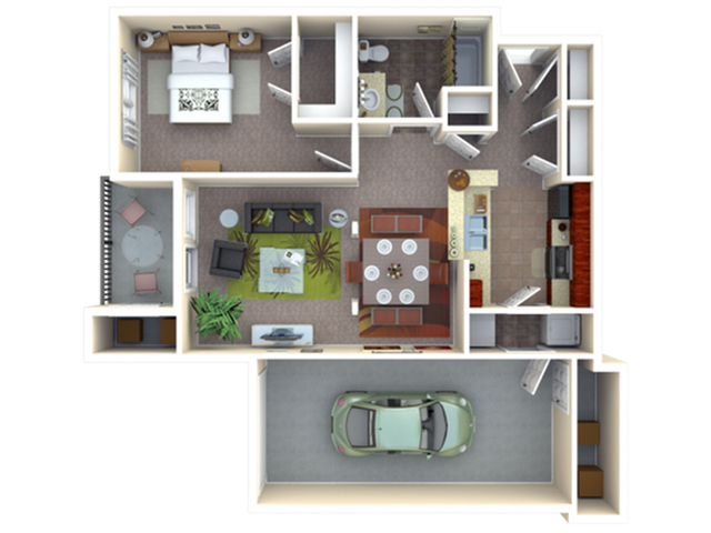 Hybrid | 1 bed 1 bath | from 710 square feet
