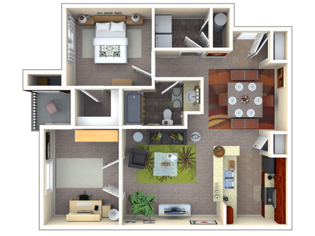 Mimosa | 1 bed 1 bath | from 828 square feet