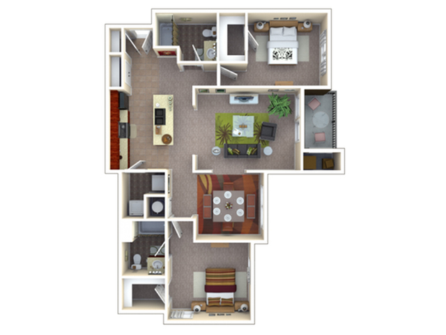 Berkeley | 2 bed 2 bath | from 1162 square feet