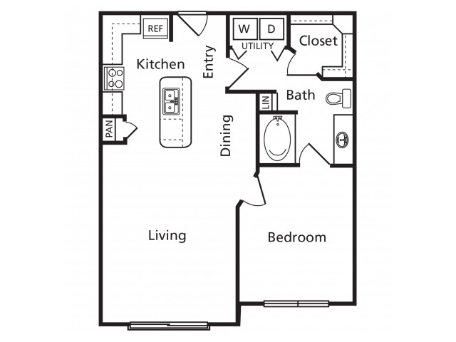 A4 | 1 bed 1 bath | from 740 square feet