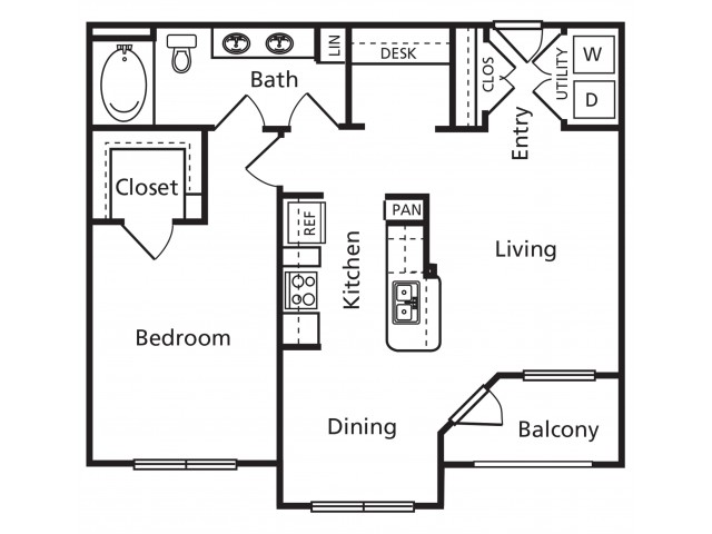 B | 1 bed 1 bath | from 812 square feet