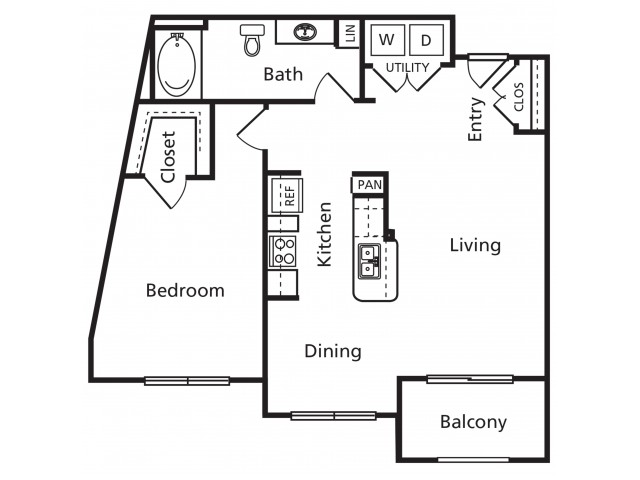 B3 | 1 bed 1 bath | from 821 square feet