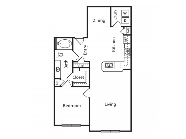B5 | 1 bed 1 bath | from 882 square feet