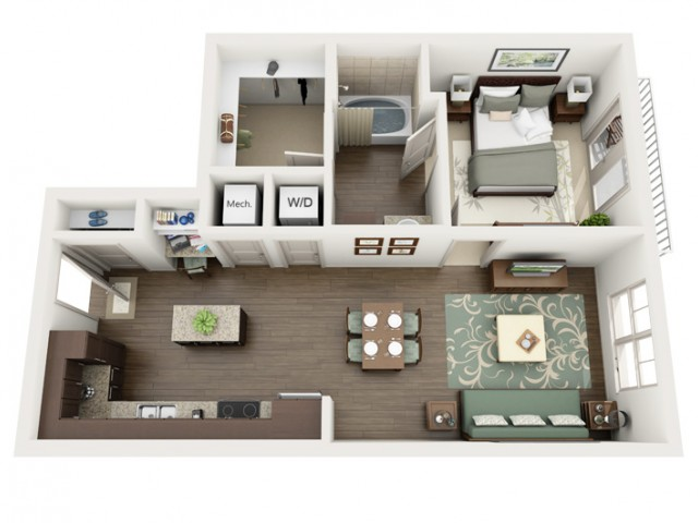 Oxford | 1 bed 1 bath | from 693 square feet