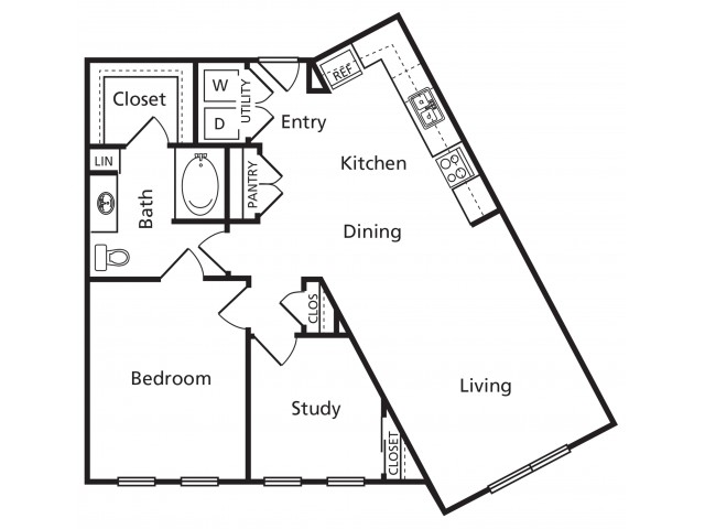 CA | 1 bed 1 bath | from 950 square feet