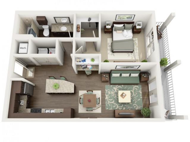 Indigo | 1 bed 1 bath | from 759 square feet