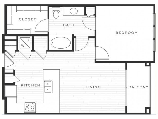 The Mai Tai | 1 bed 1 bath | from 723 square feet