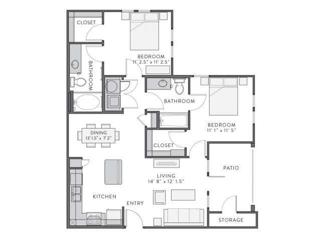 Belle | 2 bed 2 bath | from 985 square feet