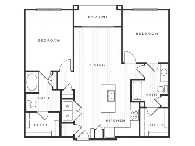 The Cosmopolitan | 2 bed 2 bath | from 1103 square feet