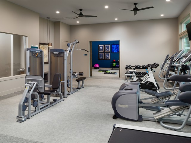 Image of 24-hour fully equipped fitness center with top of the line Precor fitness equipment for Sapphire Bay