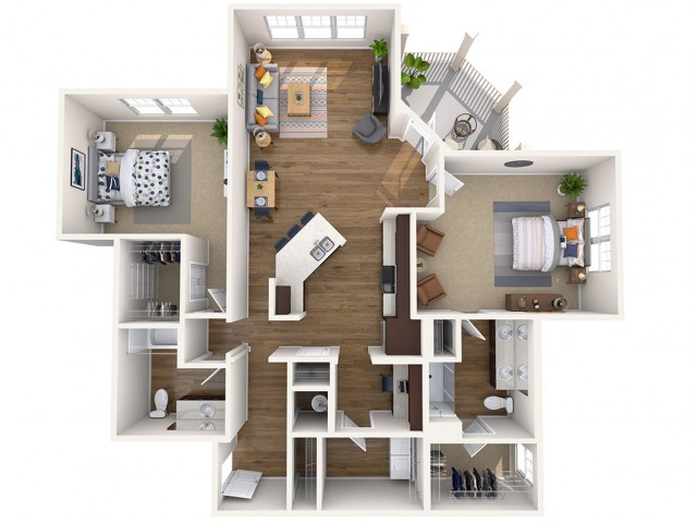 B3 ALT | 2 bed 2 bath | from 1351 square feet