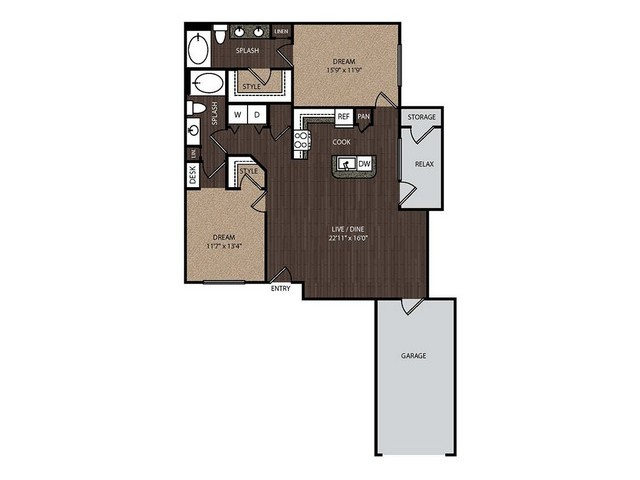C3a1 | 2 bed 2 bath | from 1236 square feet