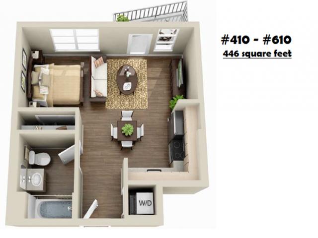 S-10   Studio1 bath   from 446 square feet