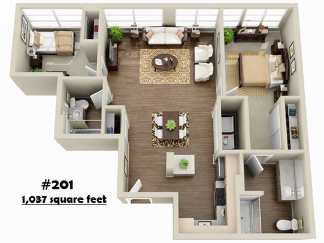 2x2   2 bed 2 bath   from 853 square feet