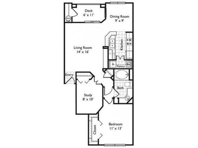 Venezia | 1 bed 1 bath | Riviera at West Village | Apartments Dallas, TX