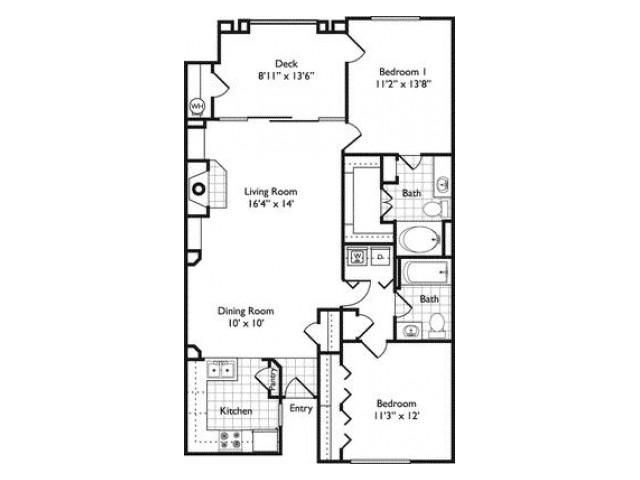 Toulon | 2 bed 2 bath | Riviera at West Village | Apartments Dallas, TX