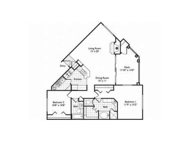Milano | 2 bed 2 bath from 1260 square feet | Riviera at West Village | Apartments Dallas, TX
