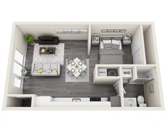 LWS | Studio1 bath | The Tomscot | Scottsdale, AZ Apartments