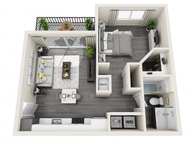 S1 | Studio1 bath | The Tomscot | Scottsdale, AZ Apartments