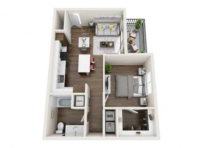1A | 1 bed 1 bath | The Tomscot | Scottsdale, AZ Apartments