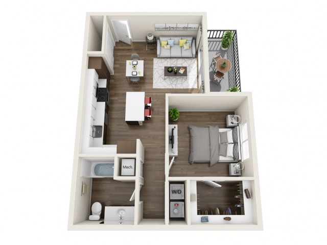 1C | 1 bed 1 bath | The Tomscot | Scottsdale, AZ Apartments