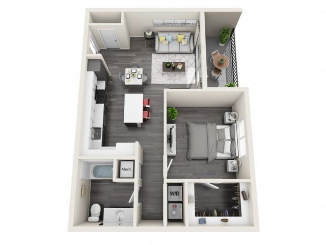 1D | 1 bed 1 bath | The Tomscot | Scottsdale, AZ Apartments