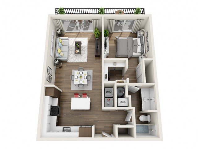 1E | 1 bed 1 bath | The Tomscot | Scottsdale, AZ Apartments