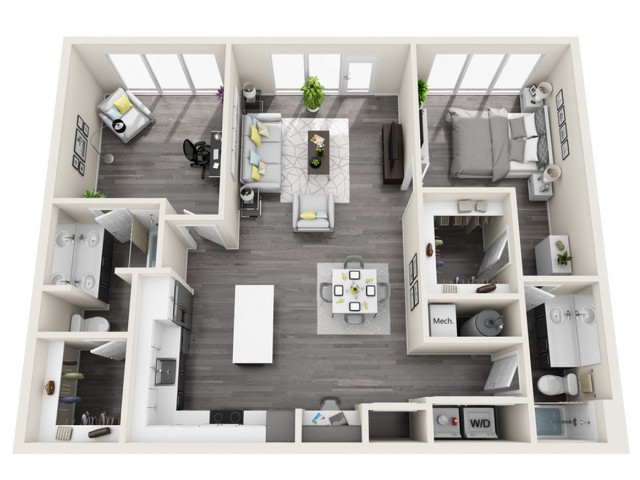 LWB | 1 bed 2 bath | The Tomscot | Scottsdale, AZ Apartments