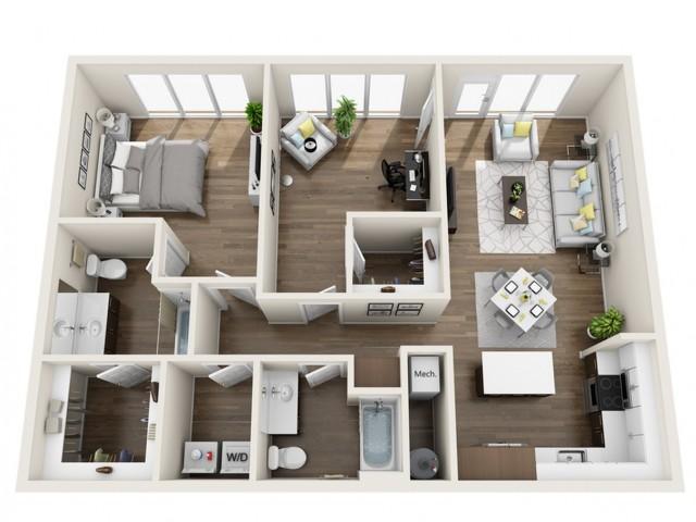 LWC | 1 bed 2 bath | The Tomscot | Scottsdale, AZ Apartments