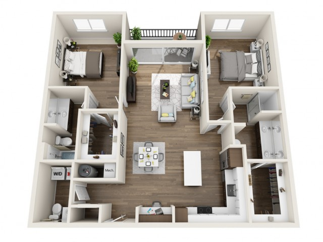 2F | 2 bed 3 bath | The Tomscot | Scottsdale, AZ Apartments