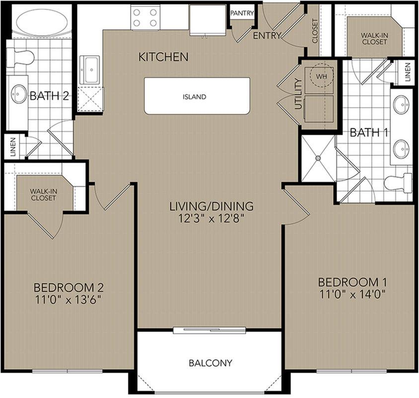Floor Plan Domain West | Houston Apartments