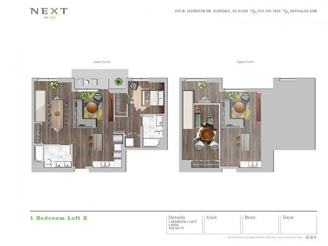 Lo1bE 1 bedroom Loft E