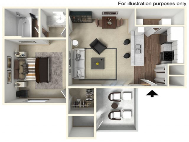 1 bed 1 bath 488 SF  | Mira Vista Hills | Antioch CA Apartments