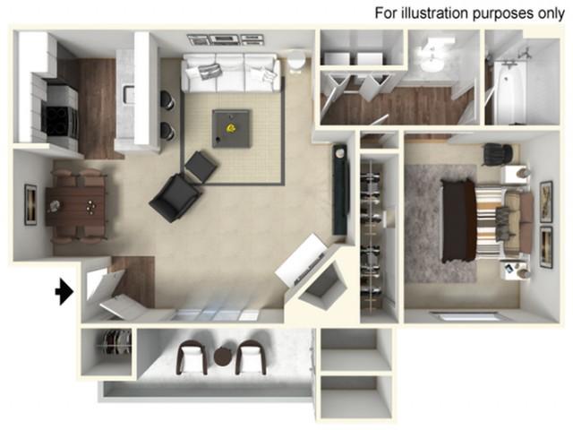 1 bed 1 bath 612 SF  | Mira Vista Hills | Antioch CA Apartments