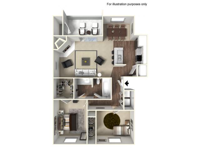 2 bed 1 bath 796SF  | Mira Vista Hills | Antioch CA Apartments