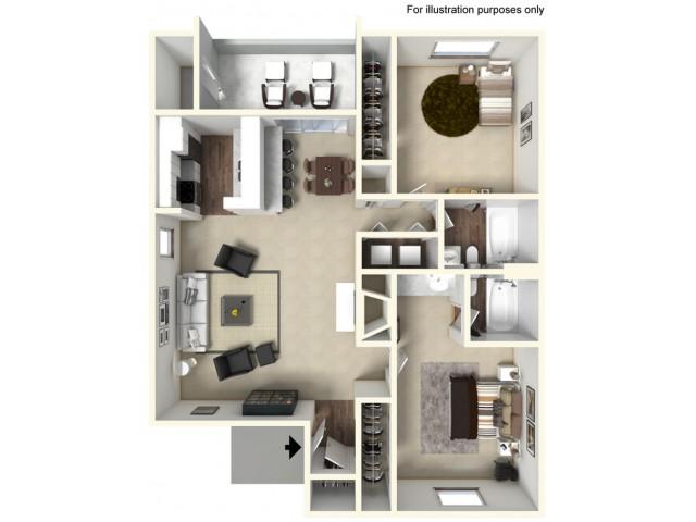 2 bed 2 bath 885 SF  | Mira Vista Hills | Antioch CA Apartments