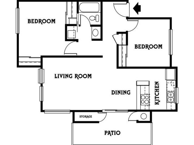 2x1 B Floor Plan