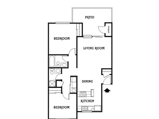 2x2 A Floor Plan