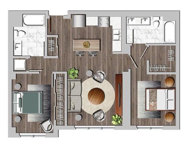 2bB two bedroom B