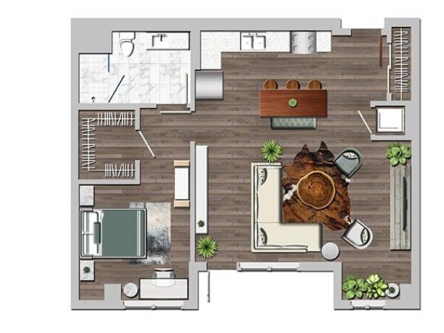 Lw1bB 1 bedroom ground loft B