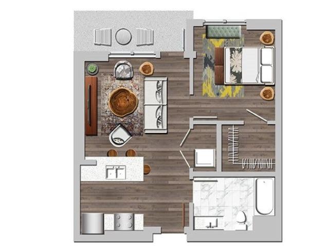 1bB2 one bedroom one bathroom