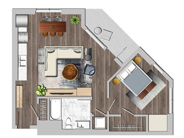 1bR one bedroom R