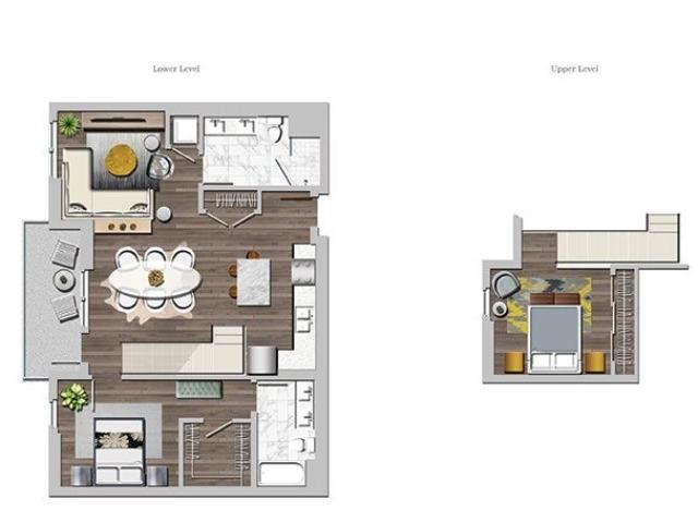 Lo1A3 one bedroom Loft A3