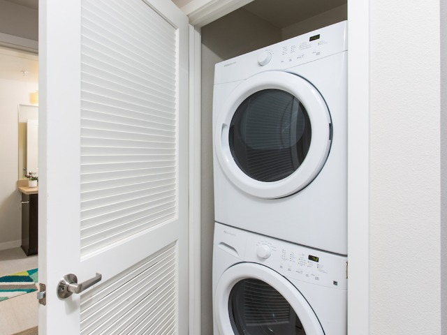 Convenient full-size washers and dryers