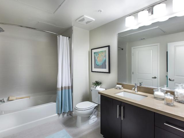 Upgraded bathroom fixtures