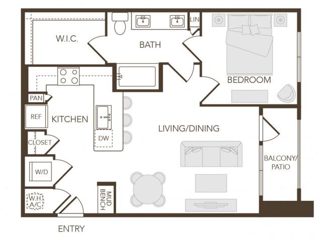 Alys Crossing Apartments- A1 Floor Plan