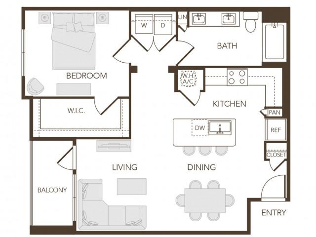 Alys Crossing Apartments- A2E Floor Plan