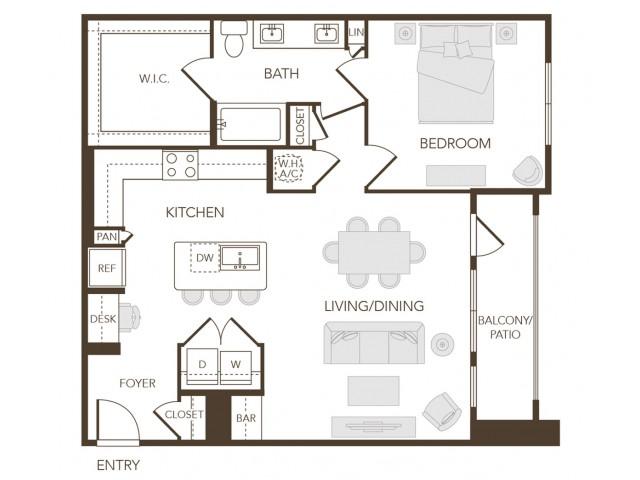 Alys Crossing Apartments- A3A Floor Plan
