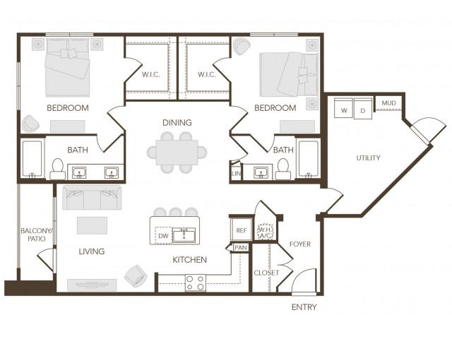 Alys Crossing Apartments- B1B Floor Plan