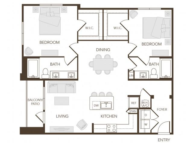 Alys Crossing Apartments- B1A Floor Plan